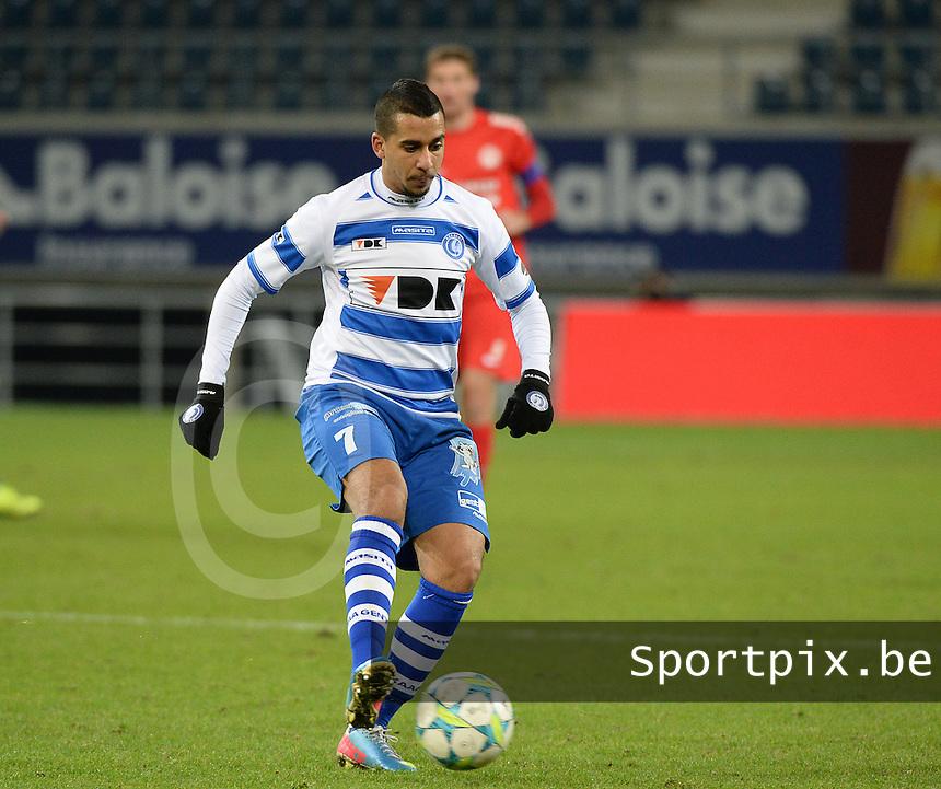 AA Gent - KV Kortrijk : Yassine El Ghanassy<br /> foto VDB / Bart Vandenbroucke