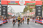 Dylan Groenewegen (NED) Team Jumbo-Visma wins Stage 4 the Emirates NBD Stage of the UAE Tour 2020 running 173km from Dubai Zabeel Park to Dubai City Walk, Dubai. 26th February 2020.<br /> Picture: LaPresse/Fabio Ferrari | Cyclefile<br /> <br /> All photos usage must carry mandatory copyright credit (© Cyclefile | LaPresse/Fabio Ferrari)