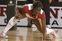 28 October 2005: Njideka Nnamani during Stanford's 3-0 win over Oregon State in Stanford, CA.