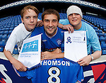 Kevin Thomson at Ibrox Stadium to promote the Teenage Cancer Trust as the Rangers Charity Foundation's new charity partner for season 2009/10