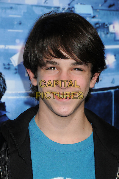 Zachary Gordon.L.A. Premiere of  'Man on a Ledge' held at The Grauman's Chinese Theatre in Hollywood, California, USA..January 23rd, 2012 .headshot portrait black blue.CAP/ADM/BP.©Byron Purvis/AdMedia/Capital Pictures.