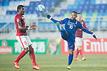 Suwon Midfielder Natanael Santos Junior (R) trips up with Guangzhou Midfielder Paulinho Maciel (L) during the AFC Champions League 2017 Group G match Between Suwon Samsung Bluewings (KOR) vs Guangzhou Evergrande FC (CHN) at the Suwon World Cup Stadium on 01 March 2017 in Suwon, South Korea. Photo by Victor Fraile / Power Sport Images