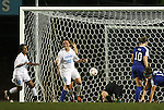 24 September 2009: North Carolina's Maria Lubrano (91) reacts after scoring the game's first goal in the 84th minute. The University of North Carolina Tar Heels defeated the Duke University Blue Devils 2-1 in sudden victory overtime at Fetzer Field in Chapel Hill, North Carolina in an NCAA Division I Women's college soccer game.