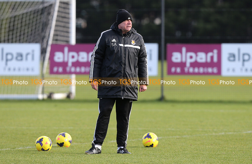 West Ham manager Sam Allardyce - West Ham United Training Session at Chadwell Heath, London - 27/01/14 - MANDATORY CREDIT: Rob Newell/TGSPHOTO - Self billing applies where appropriate - 0845 094 6026 - contact@tgsphoto.co.uk - NO UNPAID USE