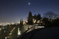 Brescia nella foto il castello geografico Brescia 02/03/2017 foto Matteo Biatta<br /> <br /> Brescia in the picture the castle geographic Brescia 02/03/2017 photo by Matteo Biatta