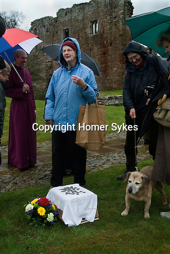 The Lady Anne Clifford Dole Ceremony Brougham Castle Cumbria 2016.  Four hundredth anniversary of the dole ceremony.