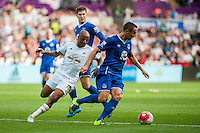 Andre Ayew of Swansea  chases the ball  during the Barclays Premier League match between Swansea City and Everton played at the Liberty Stadium, Swansea  on September 19th 2015