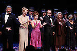 Ron Raines, Jan Maxwell, Bernadette Peters, Danny Burstein, Jayne Houdyshell & Susan Watson.during the Broadway Opening Night Curtain Call for 'Follies'  in New York City.