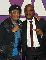 04 February 2019 - Los Angeles, California - Spike Lee, Barry Jenkins. 91st Oscars Nominees Luncheon held at the Beverly Hilton in Beverly Hills. <br /> CAP/ADM<br /> &copy;ADM/Capital Pictures