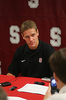 26 September 2006: Kelton Lynn addresses the media during a weekly news conference at the Arrillaga Family Sports Center in Stanford, CA.