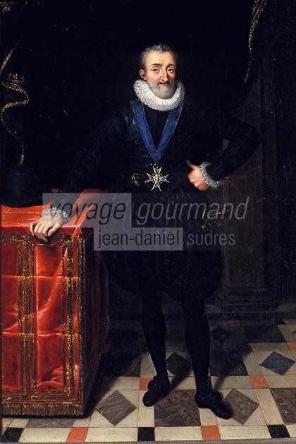 Europe/France/Auverne/63/Puy-de-Dôme/Env. de Courpière: Le château d'Aulteribe - Henri IV par Porbus le jeune