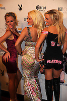 "Stars of ""The Girls Next Door"" Kendra Wilkinson, Holly Madison, center, and Bridget Marquardt pose at Playboy's ninth annual ""Super Saturday Night""  party in at Playboy's Desert Oasis and Resort in Chandler, Arizona Saturday February 2, 2008.   (Photo by Alan Greth)"