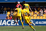 C.A. Osasuna's Aridane during 123 League match between A.D. Alcorcon and C.A. Osasuna at Santo Domingo Stadium in Alcorcon, Spain. May 04, 2019. (ALTERPHOTOS/A. Perez Meca)