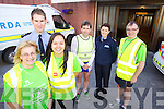 Launching a campaign to encourage people who are running and cycling in the winter months to wear high visability clothing, pictured at Tralee Garda Station on Monday evening were Moira Horgan, Garda Daniel Buckley, Vivienne Lee, Marcus Howlett, Garda Marian McCarthy and Brian Hayden.