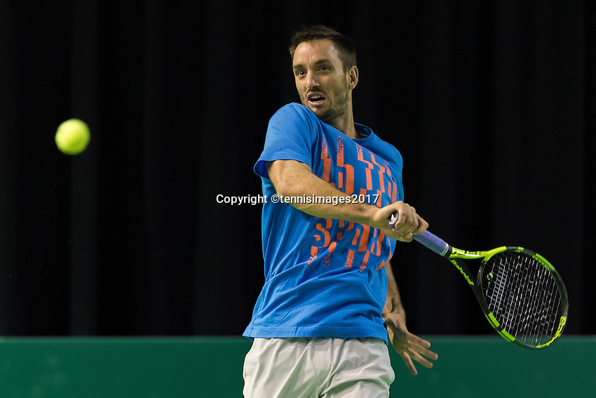 ABN AMRO World Tennis Tournament, Rotterdam, The Netherlands, 14 februari, 2017, Victor Troicki (SRB)<br /> Photo: Henk Koster