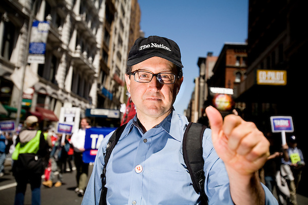 On April 29th, 2006 thousands of anti-war protesters rallied at Union Square in Manhattan and marched down Broadway to show their anger at the Bush administration for the continuing war in Iraq.. John Tasani, candidate for US Senate against the war in Iraq.