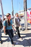 SAO PAULO, SP, 13 JULHO 2012 - ELEICOES 2012 - FERNANDO HADDAD -  O candidato a prefeitura de Sao Paulo pelo Partido dos Trabalhadores (PT), Fernando Haddad, cumpre agenda eleitoral com caminhada no Campo Limpo regiao sul da capital paulista, nesta sexta-feira, 13. (FOTO: ADRIANA SPACA / BRAZIL PHOTO PRESS).