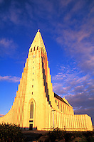The Famous Hallgrims Church - Tallest Building in Iceland, Reykjavik.