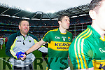 David Moran, Kerry players after defeating Tyrone in the All Ireland Semi Final at Croke Park on Sunday.