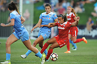 Boyds, MD - Saturday August 26, 2017: Sofia Huerta, Mallory Pugh during a regular season National Women's Soccer League (NWSL) match between the Washington Spirit and the Chicago Red Stars at Maureen Hendricks Field, Maryland SoccerPlex.