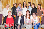 Kitty Flynn, Upper Tullig, Killorglin, pictured with Liz Galvin, Nora Cahillane, Samantha Flynn, Kathleen Lucey, Lorna Flynn, Mary Naughton, Shauna Cahillane, Tanya Cahillane, Deborah Flynn and Nora Mai Flynn as she celebrated a special birthday in the Killorglin Golf Club on Friday night........................................................