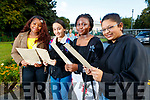 Precious Benjamin, Diana Baftijari, Marvell Ousuzane and Irza Munir, students attending Presentation Secondary School, Tralee, who received their Junior Certificate results on Wednesday morning last.