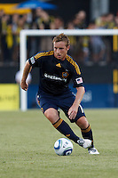 29 MAY 2010:  Galaxy's #11 Chris Birchall during MLS soccer game between LA Galaxy vs Columbus Crew at Crew Stadium in Columbus, Ohio on May 29, 2010. Galaxy defeated the Crew 2-0.