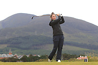 Áine Donegan (IRL) on the 2nd tee during Round 2 of the Women's Amateur Championship at Royal County Down Golf Club in Newcastle Co. Down on Wednesday 12th June 2019.<br /> Picture:  Thos Caffrey / www.golffile.ie