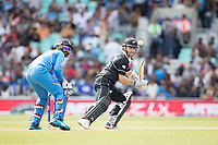 Kane Williamson (New Zealand) deftly cuts late to third and collects a single during India vs New Zealand, ICC World Cup Warm-Up Match Cricket at the Kia Oval on 25th May 2019