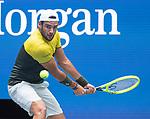 September 4,2019:  Matteo Berrettini (ITA) defeated Gael Monfils (FRA) 3-6, 6-3, 6-2, 3-6, 7-6, at the US Open being played at Billie Jean King National Tennis Center in Flushing, Queens, NY.  ©Jo Becktold/CSM