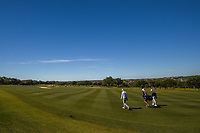 Jim Furyk (USA) and Julian Suri (USA) head down 11 during Round 4 of the Valero Texas Open, AT&amp;T Oaks Course, TPC San Antonio, San Antonio, Texas, USA. 4/22/2018.<br /> Picture: Golffile | Ken Murray<br /> <br /> <br /> All photo usage must carry mandatory copyright credit (&copy; Golffile | Ken Murray)