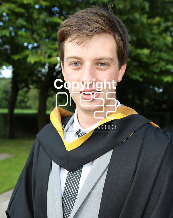 28/8/2014  Attending the University of Limerick conferrings on Thursday was who was Darren O'Connor, Clonlara who was conferred with a BSc Product Design.  Picture Liam Burke/Press 22 (With compliments)