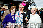 Marie Lavery (Ballylongford), Lorraine Savage (Tralee) and Margaret Kennedy (Asdee), enjoying Ladies Day at Listowel Races on Friday last.