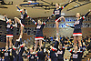 The Smithtown West varsity cheerleaders perform during a competition held at Hauppauge High School on Saturday, Jan. 21, 2017.