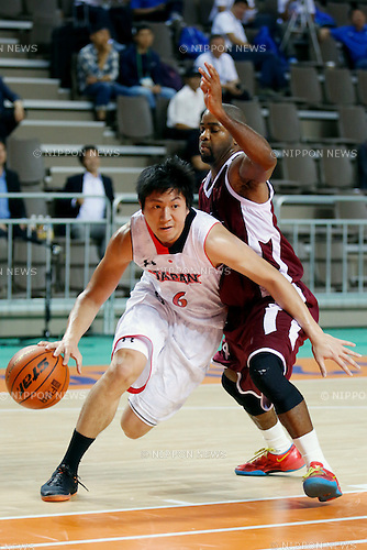 Makoto Hiejima (JPN), <br /> SEPTEMBER 25, 2014 - Basketball : <br /> Men's Preliminary <br /> between Japan 71-72 Qatar <br /> at Samsan World Gymnasium <br /> during the 2014 Incheon Asian Games in Incheon, South Korea. <br /> (Photo by AFLO SPORT)