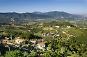 General view of the countryside views trom Picinisco, Italy.