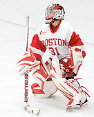 Braly Hiller (BU - 31) - The Boston University Terriers defeated the visiting Northeastern University Huskies 3-0 on Tuesday, December 7, 2010, at Walter Brown Arena in Boston, Massachusetts.