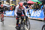 Riders including Alexander Kristoff (NOR) tackle the 9 laps of the Harrogate circuit during the Men Elite Road Race of the UCI World Championships 2019 running 261km from Leeds to Harrogate, England. 29th September 2019.<br /> Picture: Eoin Clarke | Cyclefile<br /> <br /> All photos usage must carry mandatory copyright credit (© Cyclefile | Eoin Clarke)
