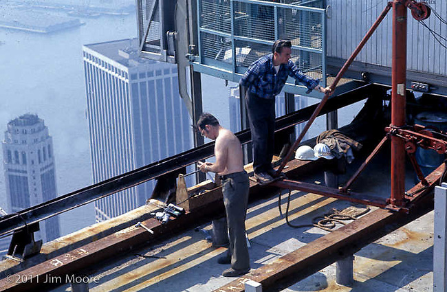 Iron workers on WTC South Tower.