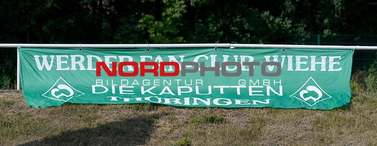 22.07.2013, Sportplatz, Blankenhain, GER, 1.FBL, Trainingslager Werder Bremen 2013, im Bild Plakat am Sportplatz<br /> <br /> Foto &not;&copy; nph / Frisch