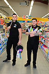 Anthony Tully and Stuart Doonan at the opening of the Dealz new store in Lakeland retail Park, Cavan.<br /> <br /> Picture Fran Caffrey /Newsfile