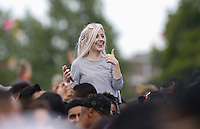 Fans enjoy the show as KID INK (Brian Todd Collins) performs during The New Look Wireless Music Festival at Finsbury Park, London, England on Friday 28 June 2015. Photo by Andy Rowland.