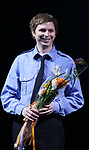 Michael Cera during the the Broadway Opening Night Performance curtain call for 'Lobby Hero' at The Hayes Theatre on March 26, 2018 in New York City.