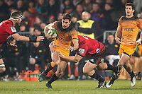Jaguares' Joaquin Diaz Bonilla in action during the 2019 Super Rugby final between the Crusaders and Jaguares at Orangetheory Stadium in Christchurch, New Zealand on Saturday, 6 July 2019. Photo: Joe Johnson / lintottphoto.co.nz