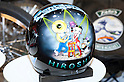 Mar 25, 2012 - Tokyo, Japan - This motorbike helmet shows a Beauty Betty's image at the 39th Tokyo Motorcycle Show, Tokyo Big Sight on March 25, 2012. This is the largest motorcycle exhibition in Japan, from March 23 to 25 this year.