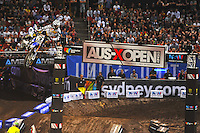 Kade Mosig (Yamaha) final.<br />  AUS-X Open / SX1<br /> Sydney NSW Saturday 28 November 2015<br /> &copy; Sport the library / Courtney Crow