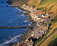 The village of Crovie on the east coast of Scotland is recognised as one of the finest 18th century fishing villages in Europe