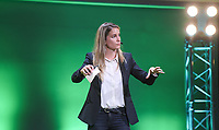20190827 – BRUSSELS , BELGIUM :  FIFA head of Development and Governance of Womens football Emily Shaw pictured during the women 's Football Summit , a summit where the Belgian Football Association KBVB uncover their plans for the future of women soccer in Belgium , tuesday 27 th August 2019 at the Brussels Expo Auditorium 2000  , Belgium  .  PHOTO SPORTPIX.BE   DAVID CATRY