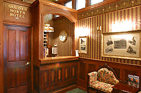 Interior lobby of the Historic Golden North Hotel in Skagway, Alaska