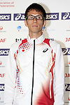 Yuki Sato (JPN), <br /> JUNE 10, 2013 - Athletics : Athletics Japan National Team Press Conference for the IAAF World Championships 2013 Moscow at Akasaka Sacas Gallery in Tokyo, Japan. <br /> (Photo by AFLO SPORT)